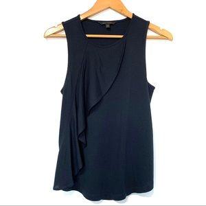 Banana Republic career sleeveless blouse navy blue